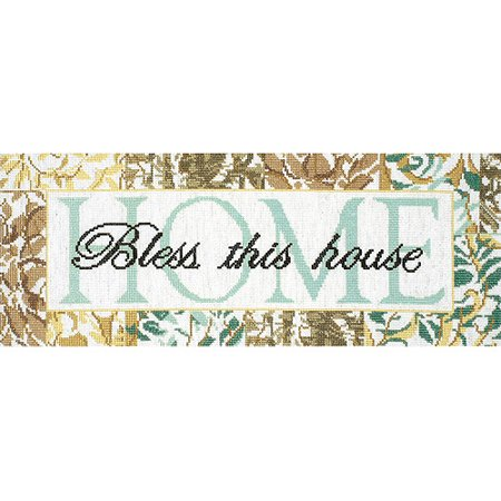 House Counted Cross Stitch - Tobin Bless This House Counted Cross Stitch Kit, 7