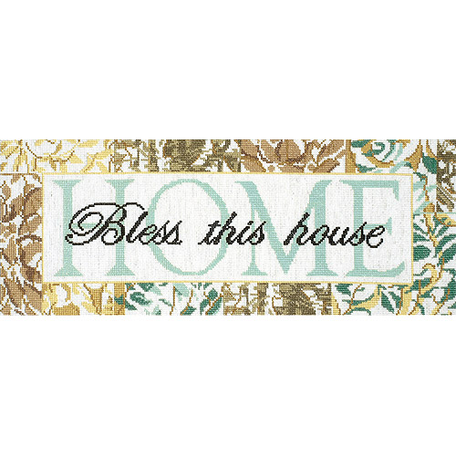 "Tobin Bless This House Counted Cross Stitch Kit, 7"" x 18"", 14 Count"