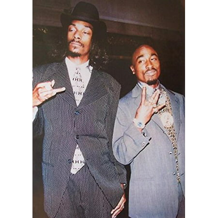 Suits - 2Pac and Snoop Dogg 36x24 Music Art Print Poster Sharp Dressed Men Hip Hop Rappers Tupac Amaru