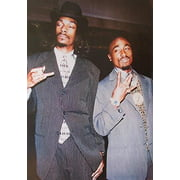 Suits - 2Pac and Snoop Dogg 36x24 Music Art Print Poster Sharp Dressed Men Hip Hop Rappers Tupac Amaru Shakur