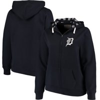 Detroit Tigers Soft as a Grape Women's Plus Size Pennant Race Full-Zip Hoodie - Navy
