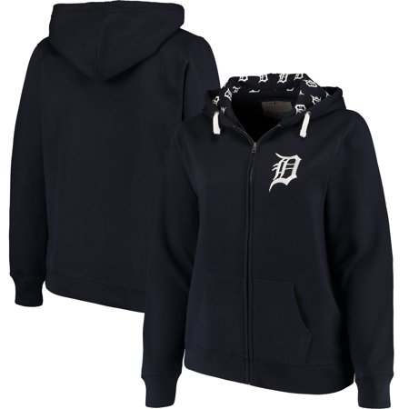 Detroit Tigers Soft as a Grape Women's Plus Size Pennant Race Full-Zip Hoodie - (Bret Flight Of The Conchords Tiger Sweatshirt)