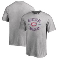 Montreal Canadiens Fanatics Branded Youth Heritage T-Shirt - Ash