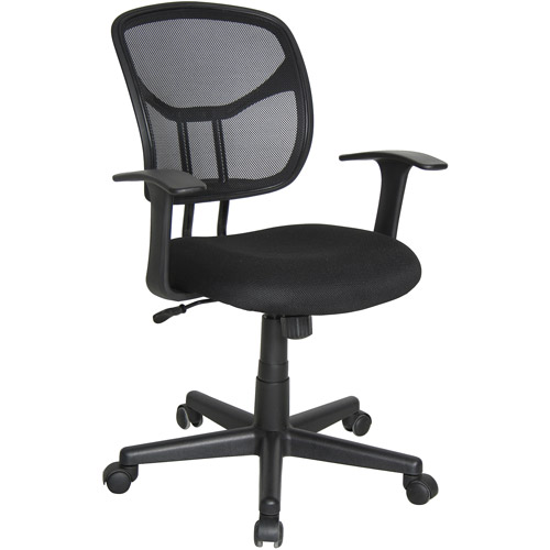 OFM Essentials Modern Mesh Back Ergonomic Manager's Task Chair, Black
