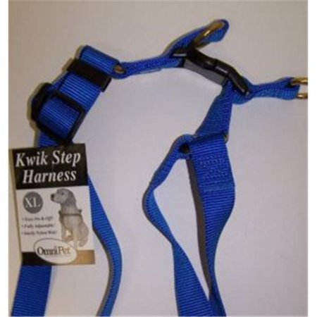 Omni Pet 445-19001 Omni Pet No.19XLBL Step in Harness Nylon Size 27-42in XLarge Color Blue - image 1 of 1