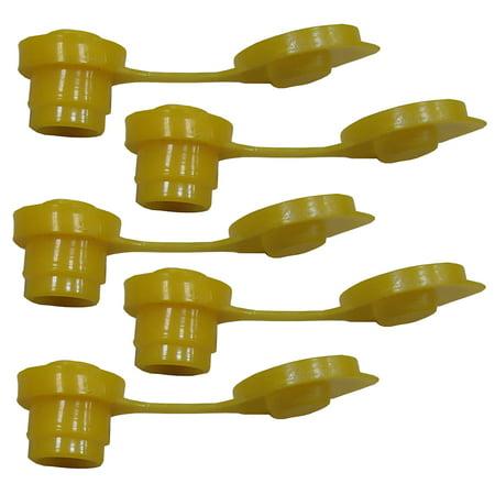 5 Yellow Fuel Gas Can Jug Vent Cap