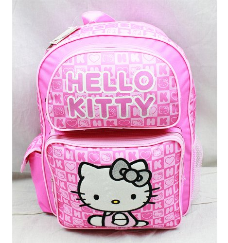 Backpack - Hello Kitty - Pink Box Checker (Large School Bag) New 82348