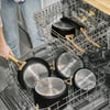 Beautiful 10 PC Cookware Set, Black Sesame by Drew Barrymore