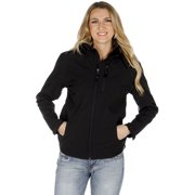 STS Ranchwear Youth Barrier Polyester Softshell Jacket Black Hooded XL
