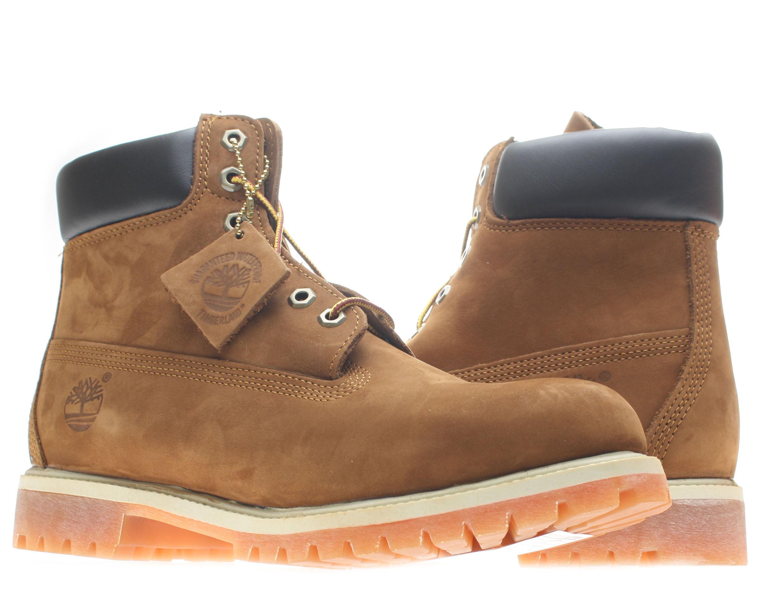 Timberland 6-Inch Premium Waterproof Men's Rust Nubuck Boots 72066 Size 7.5 by Timberland