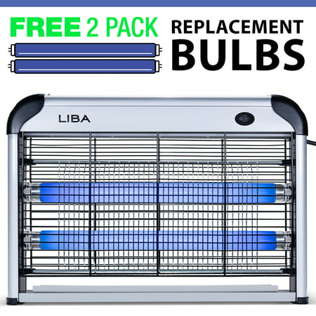 r Insect Killer by LiBa – Mosquito, Bug, Fly & Other Pests Killer – Powerful 2800V 20W Bulbs – Free 2-Pack Replacement Bulbs Included (Electronic Handheld Insect Zapper)