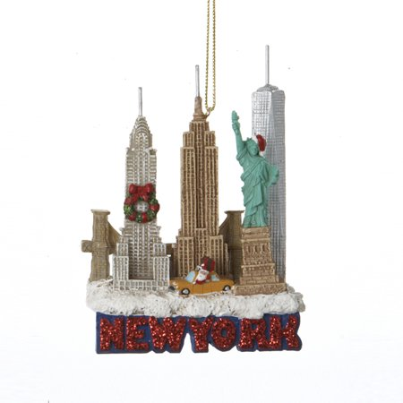 New York City Landscape Scene Travel Christmas Tree Ornament Decoration New](Pool City Christmas Decorations)