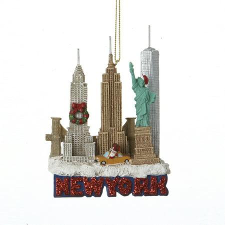 New York City Landscape Scene Travel Christmas Tree Ornament Decoration - Christmas Scene Ornaments