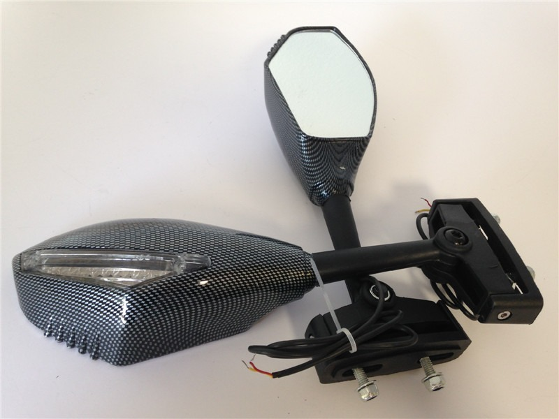 Integrated Turn Signal Mirror for Honda CBR Hurricane F2 F3 CARBON Clear lens