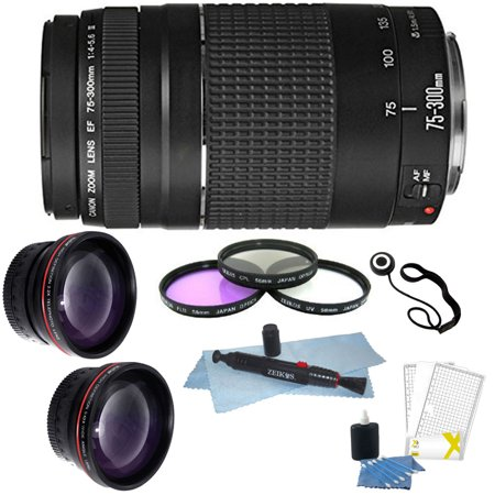 Canon Zoom Telephoto EF 75-300mm f/4.0-5.6 III Lens + 58mm Deluxe Accessory (Canon Zoom Lens Ef 75 300mm Review)