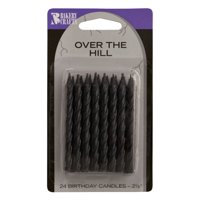 24 Black Over the Hill Spiral Candles