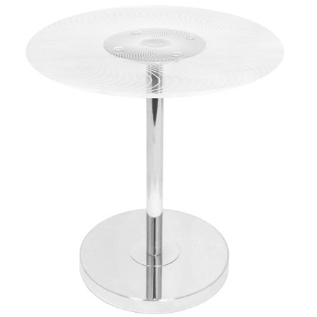 Spyra Contemporary Light Up End Table by LumiSource