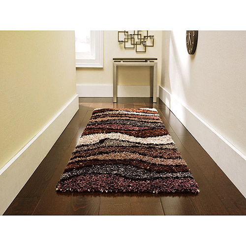 "Orian Whisper Waves Shag Runner, 23"" x 72"