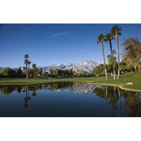 Pond in a golf course Desert Princess Country Club Palm Springs Riverside County California USA Poster Print by Panoramic Images (24 x -
