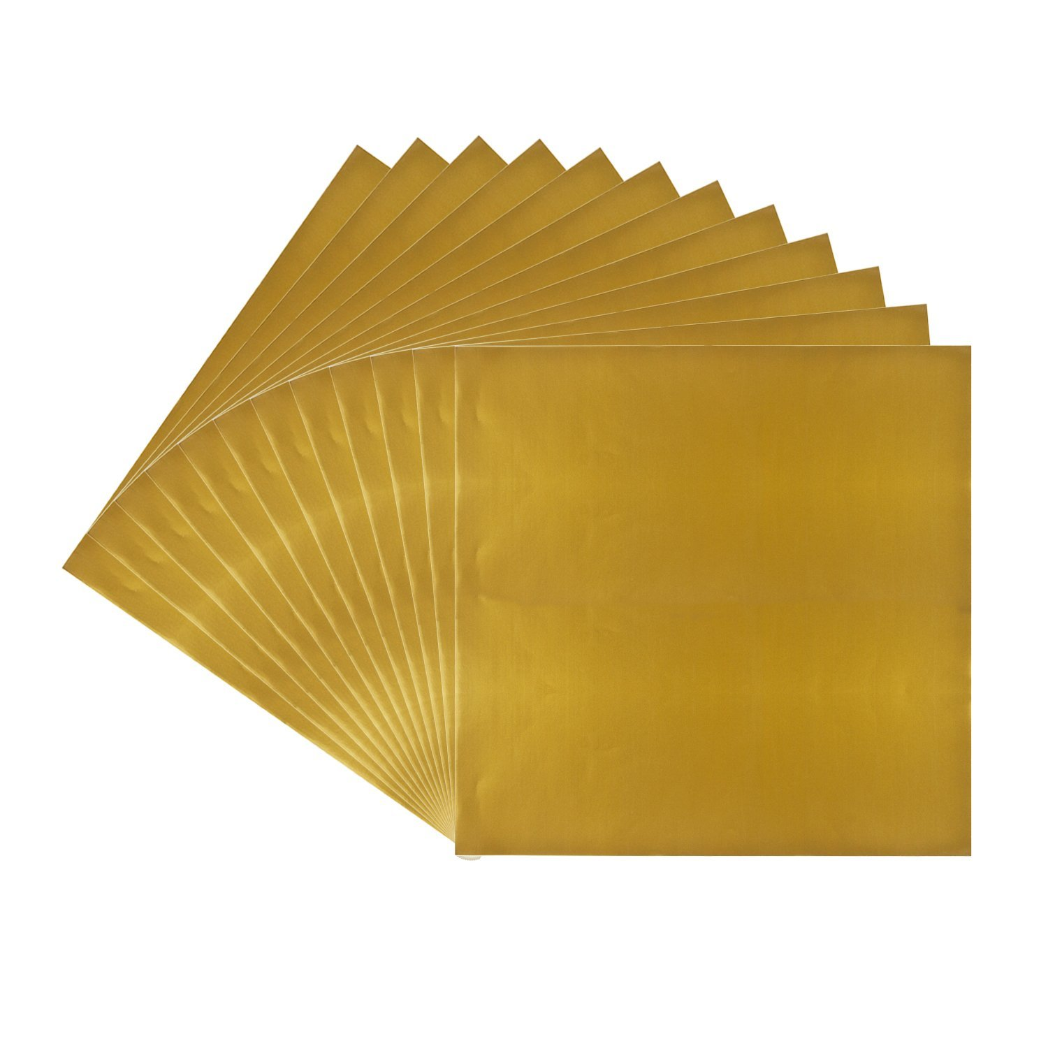 Metallic Gold Vinyl Sheets 12 Pack 12 Quot X 12 Quot Permanent