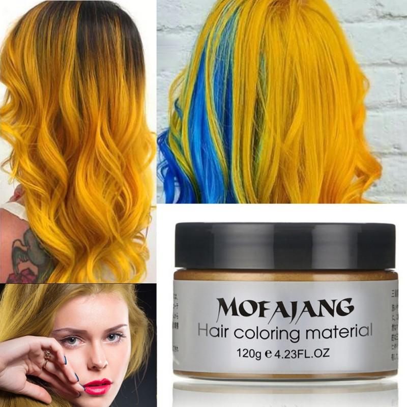 Funcee Unisex DIY Hair Color Wax Mud Dye Cream Temporary Modeling 7 Colors for Choose 4.23 FL.OZ