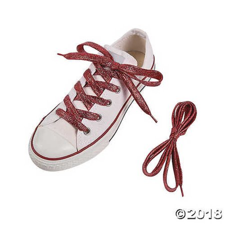 Red Team Spirit Metallic Shoelaces