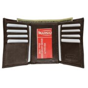 Men's genuine leather trifold wallet 1155
