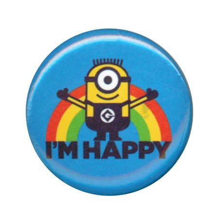 Happy Birthday Button (Despicable Me Minions I'M Happy 1.25 Inch)
