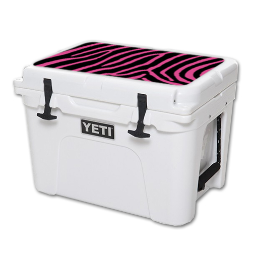 MightySkins Protective Vinyl Skin Decal for YETI Tundra 35 qt Cooler Lid wrap cover sticker skins Zebra Pink