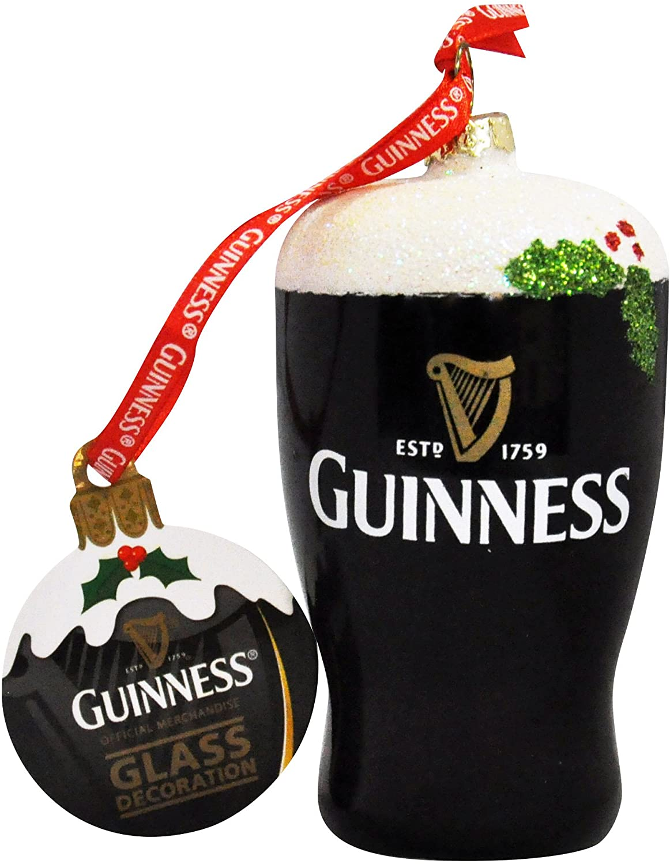 "Guinness Hanging Decor Christmas Decoration Pint 7.9 x 3.7 x 1/"" Great Souvenir"