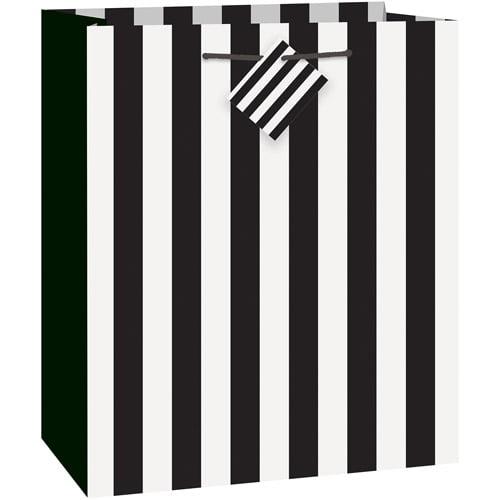 Black Striped Gift Bag