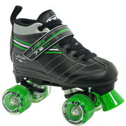 Roller Derby Skate Corp Laser 7.9 Boys' Speed Quad Skates, Black