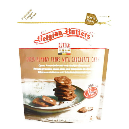 (Belgian Butters Mini Chocolate Almond Thins 4.23 oz each (6 Items Per Order, not per case))