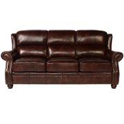 Lazzaro Appalachian  Leather Sofa in Rustic Savauge