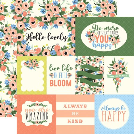 """""""Flora No. 2 Double-Sided Cardstock 12""""""""X12""""""""-Blossoming Journal Cards/Pink Flowers"""""""