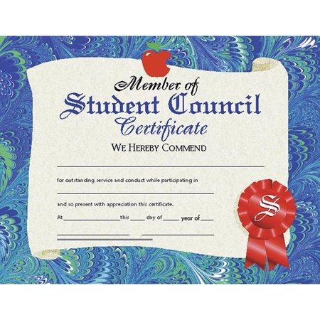 CERTIFICATES STUDENT COUNCIL 30/PK 8.5 X - Student Council Certificate