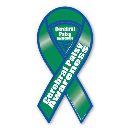 Cerebral Palsy Ribbon (Cerebral Palsy Awareness 2-in-1 Ribbon)