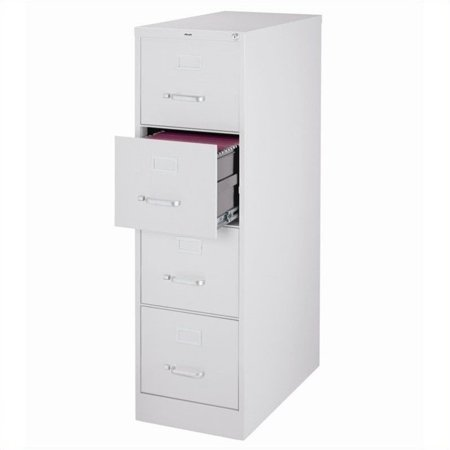 2500 Series 25-inch Deep 4-Drawer, Letter-Size Vertical File Cabinet, Light Gray ()