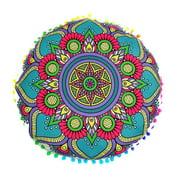 Aihome Large Round Mandala Meditation Floor Pillows Case Indian Tapestry Bohemian