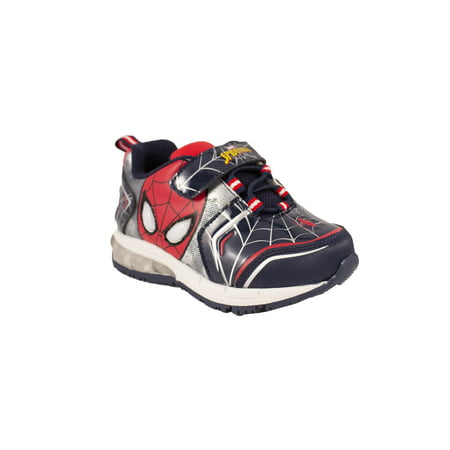 Spiderman Black & Red Light-Up Kids Sneaker](Spiderman Shoes With Lights)