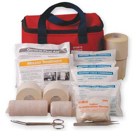 First Aid Kit, Fabric Case, General Purpose, 20 Person FIRST AID ONLY 7150G