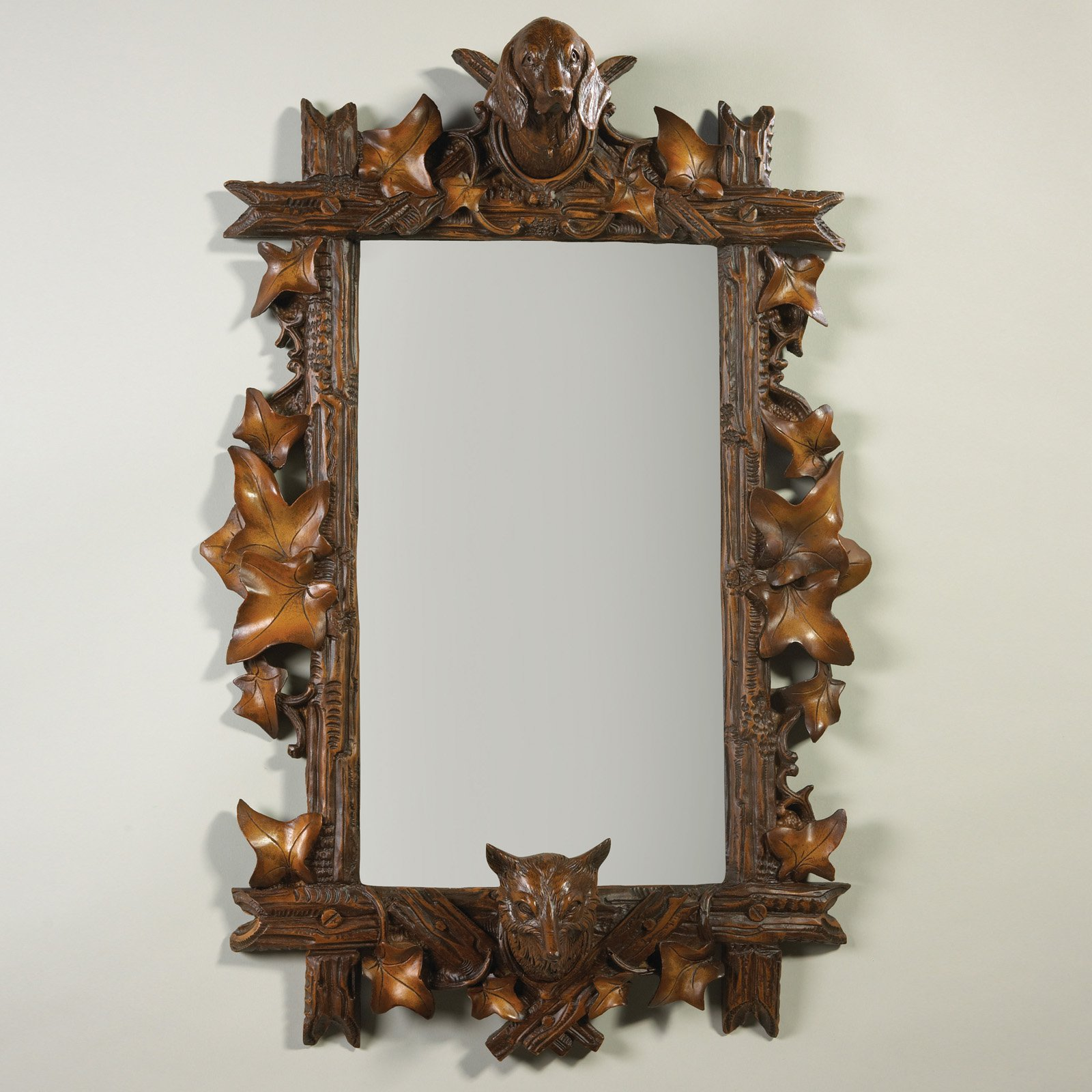 Oklahoma Casting Fox and Hound Bevel Wall Mirror