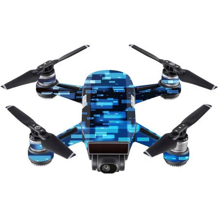 Skin For Dji Spark Mini Drone   Space Blocks   Mightyskins Protective  Durable  And Unique Vinyl Decal Wrap Cover   Easy To Apply  Remove  And Change Styles   Made In The Usa
