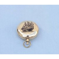 Handcrafted Nautical Decor Decorative Ship Scout's Push Button Compass