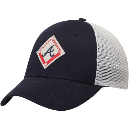 Atlanta Braves Ground Rule Snapback Adjustable Hat - Navy - OSFA - Atlanta Braves Hats