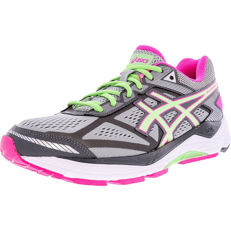 ASICS Asics Women's Gel Foundation 12 Silver Grey Pistachio Pink Glow Ankle High Running Shoe 12W