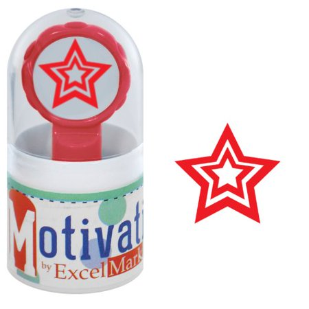 (Motivations Pre-inked Teacher Stamp - Star - Red Ink)