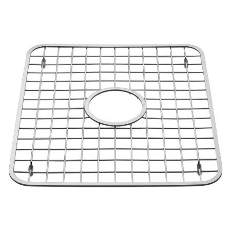 Enjoyable Interdesign Gia Kitchen Sink Protector Wire Grid Mat With Center Drain Hole Polished Interior Design Ideas Skatsoteloinfo