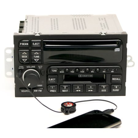Buick LeSabre Century Regal 1996-03 Radio AM FM CD Cassette w Aux Input 09373354 - Refurbished - Mercedes Radio Cassette