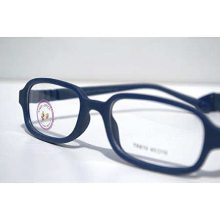 Amblyo-Specs Eye Glass Frames for Kids, Flexible, Prescription Glasses 45-16-120 (Navy Blue) Navy